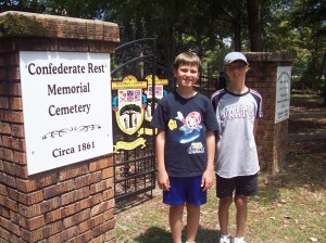 outside the Confederate Rest Cemetery in Point Clear, AL
