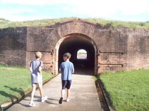 Going through the Fort tunnel