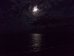 Worm Moon rising over the Atlantic.  View of Singer Island FL 2013