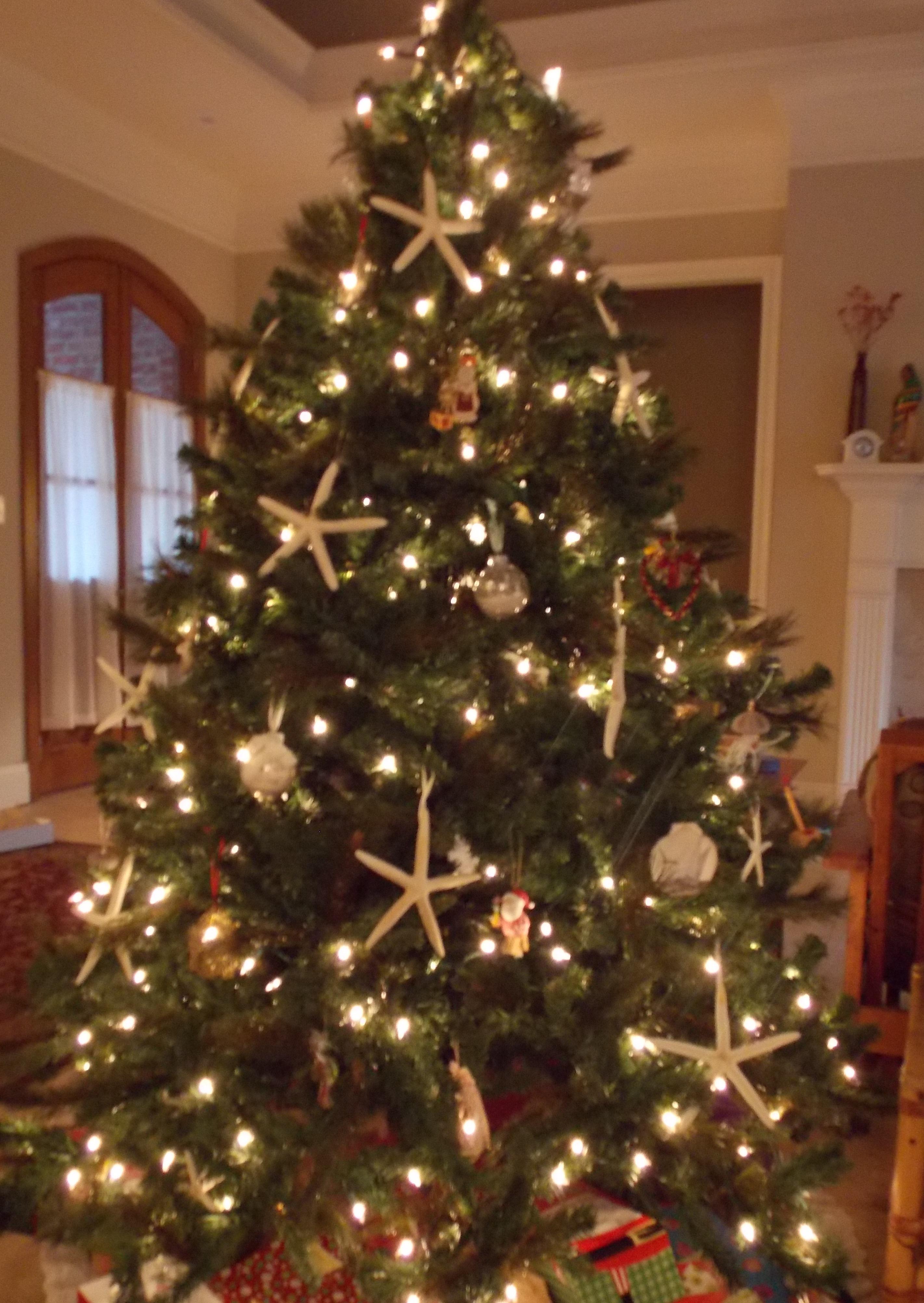 Beach themed christmas ornaments - Starfish Tree 2012