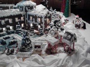 Grand Hotel Gingerbread display